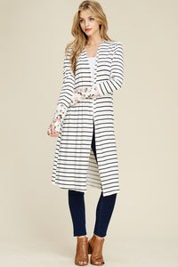 Lottie Stripe Cardigan - Brooke & Kat Boutique