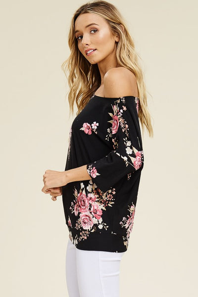 Aurora Asymmetrical Floral Top