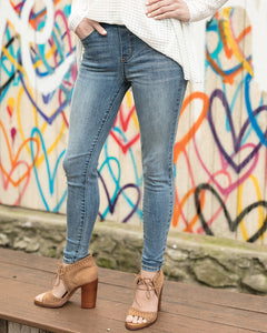Classic Mid Rise Pull-On Jeggings - Mid Wash