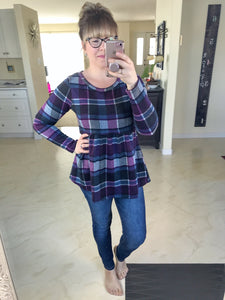 Piper Plaid Top