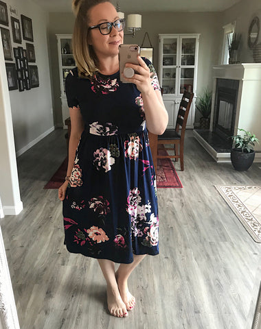 Touch Of Perfect Floral Midi Dress - Brooke & Kat Boutique