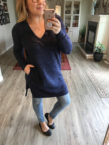 Fall Away Tunic Pullover - Brooke & Kat Boutique