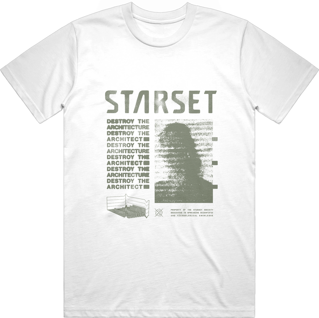 DESTROY THE ARCHITECTURE WHITE T - STARSET Merchandise