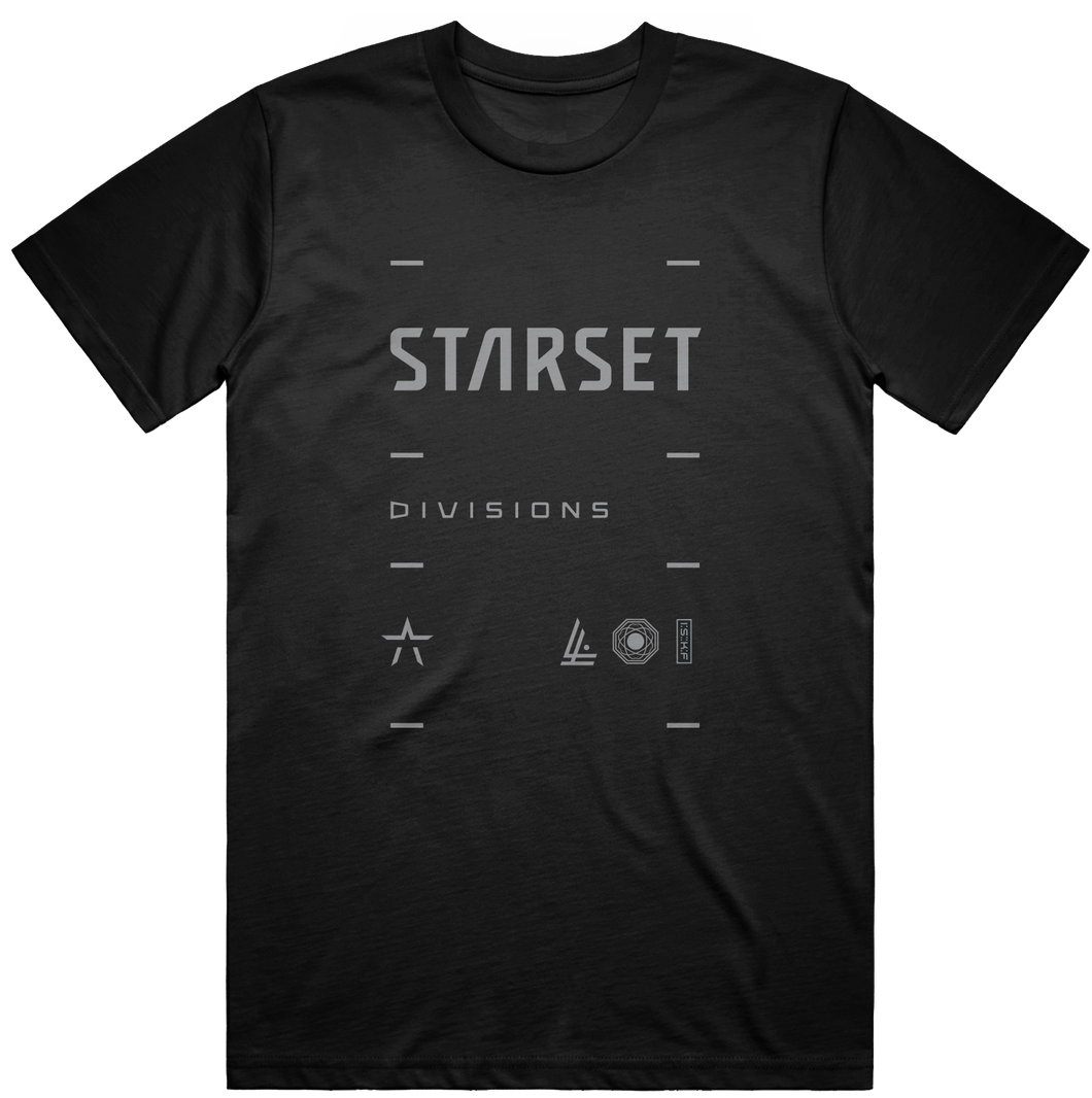 DIVISIONS LOCK UP T - STARSET Merchandise