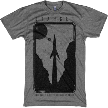 ROCKET GREY T - STARSET Merchandise