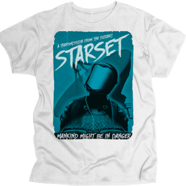 SPACEMAN WHITE T - STARSET Merchandise