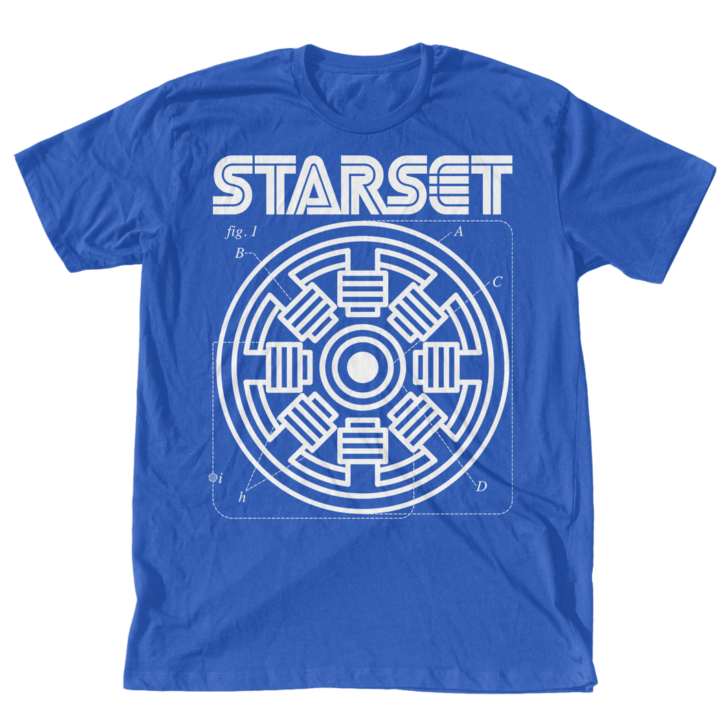 COIL T HEATHER BLUE - STARSET Merchandise