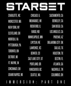 IMMERSION: Part One US TOUR T - STARSET Merchandise