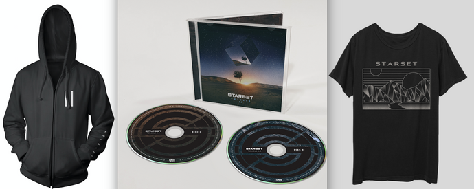 VESSELS 2.0 CD, DivisionT & Faction Hoodie Bundle - STARSET Merchandise