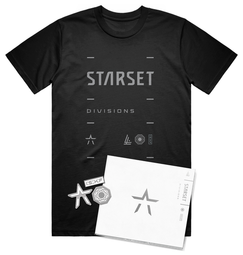 DIVISIONS UNSIGNED CD, LOCK UP T AND PIN SET - STARSET Merchandise
