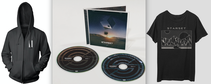 VESSELS 2.0 CD, Division T & Faction Hoodie Bundle - STARSET Merchandise