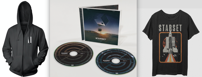 VESSELS 2.0 CD, Shuttle T & Faction Hoodie Bundle - STARSET Merchandise