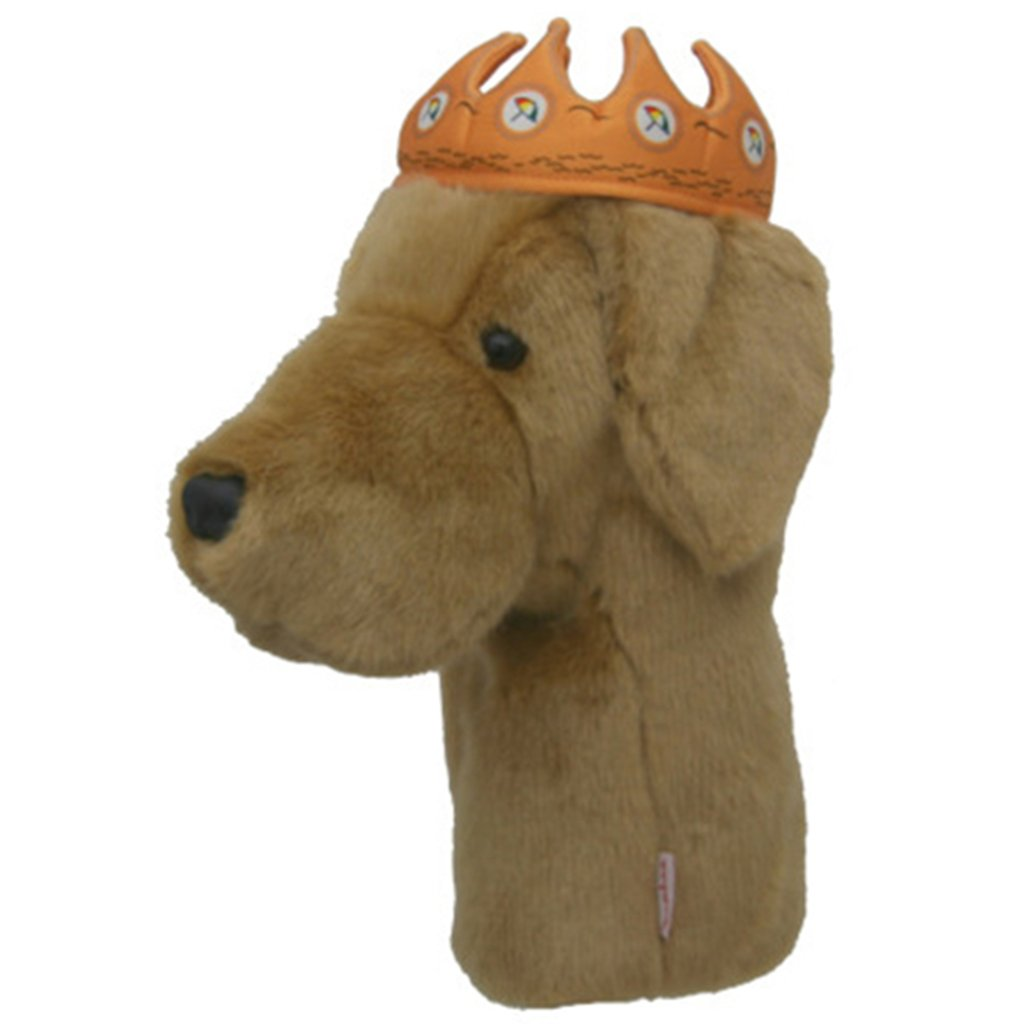 Daphne's Headcover - Yellow Lab With Crown