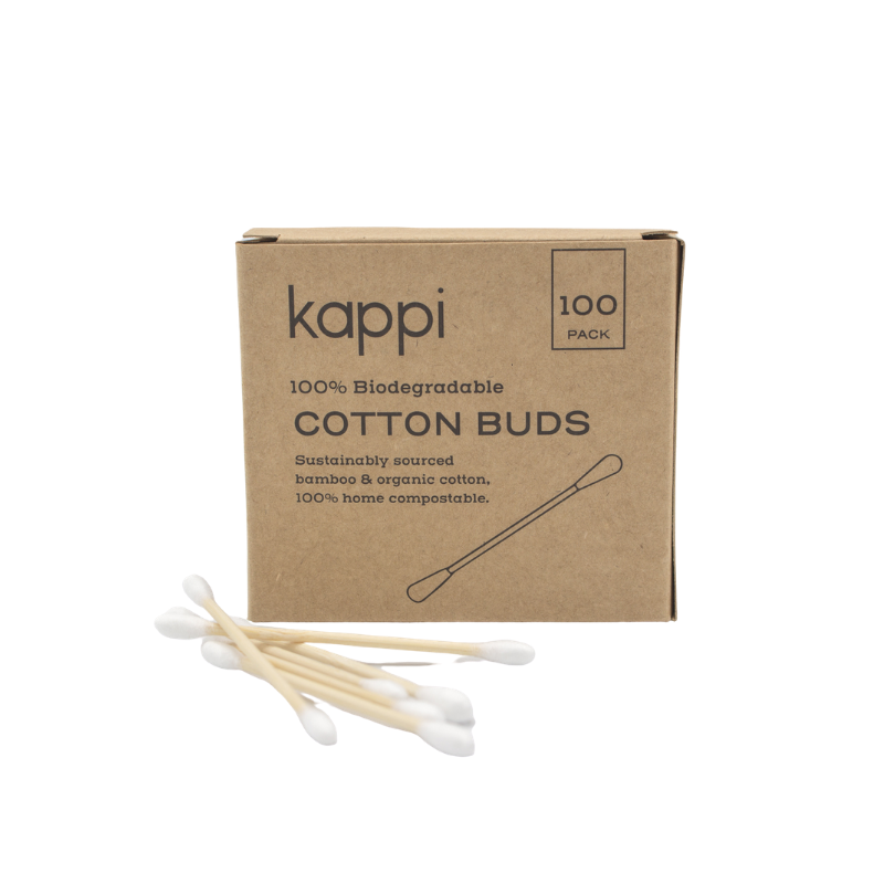 Biodegradable Organic Cotton Buds (100-Pack)