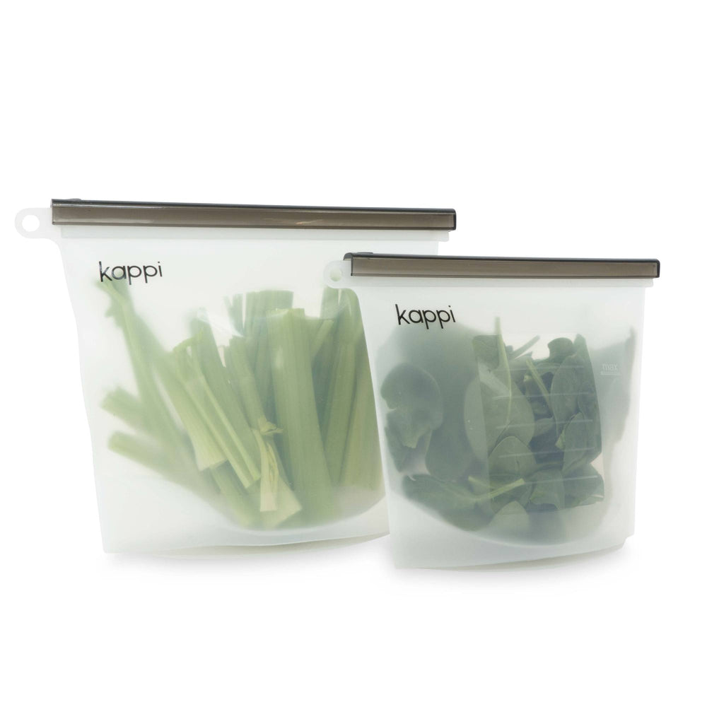 Reusable Silicone Ziplock Bags 1000ml (2-Pack)