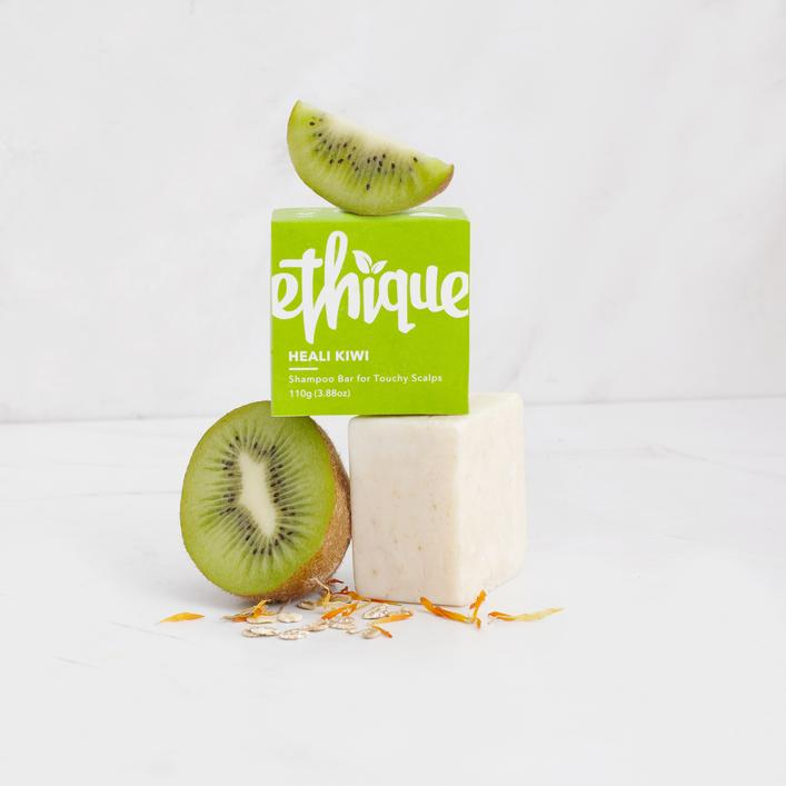 Solid Shampoo Bar for Sensitive Scalps: Heali Kiwi