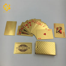 Jeu de cartes 24K gold silver plated mosaic USD Dollar Dubai design playing cards poker with certificate for gifts game palying - kadopascher.com