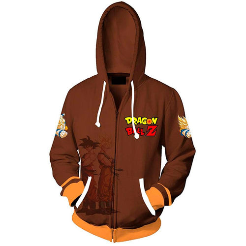Dragon Ball Z Men Women Hoodies 2019 Fashion Streetwear Hooded Jacket Sweatshirt Cosplay Zipper Men Hoodie - kadopascher.com