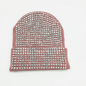 Bonnet femme avec perles / Black Hats with Clear Black Crystals - kadopascher.com