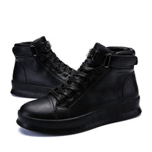 Chaussures Boots cuir homme stylées 2021 / boots trend high-top footwear breathable comfortable large size