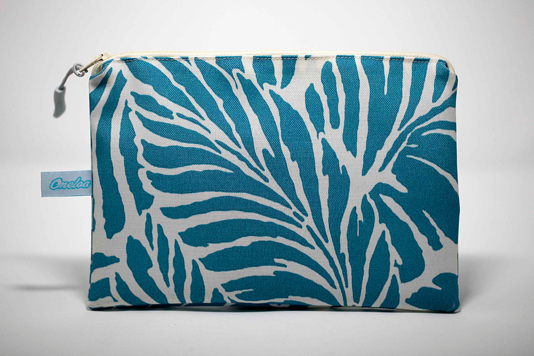 Oneloa Turquoise Tropical Leaf Clutch Size Wet/Dry Bag