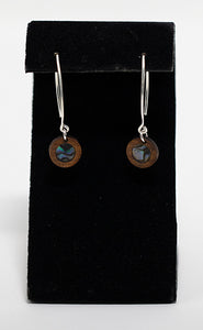 "Nāhele Designs ""Kiʻo"" Hawaiian Koa Wood Earrings"