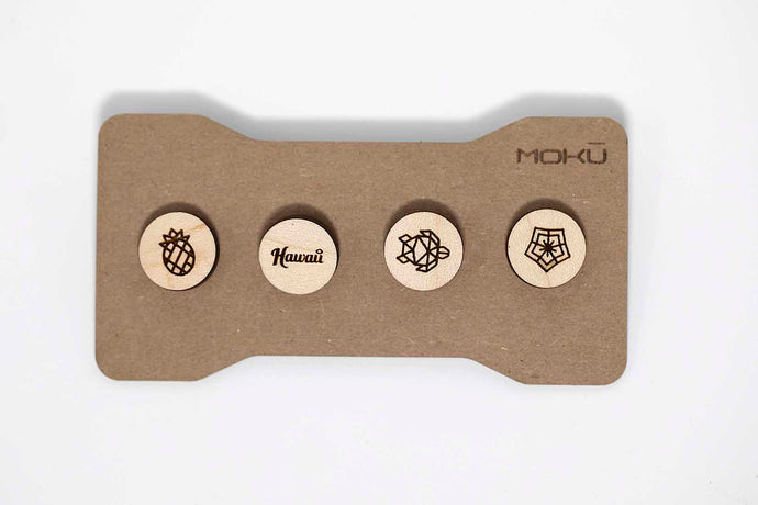 Mokū Maple Wood Pins (Set of 4)
