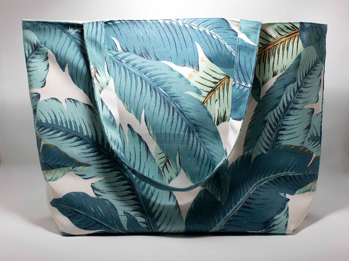 Oneloa Tropical Leaf Canvas Totebag