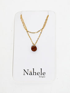 "Nāhele Designs ""Haliʻa"" Hawaiian Koa Wood Necklace"