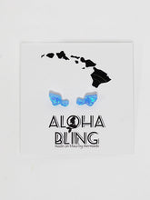 "Aloha Bling ""Blue Opal Maui"" Stud Earrings"