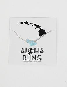 "Aloha Bling ""Green Opal Maui"" Necklace"