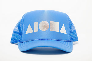 """Blue/Silver"" Adult Trucker Hat"