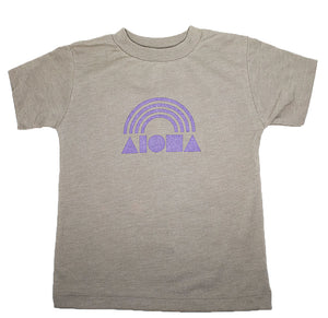Aloha Shapes® Rainbow toddler tee handmade in Maui, Hawaii