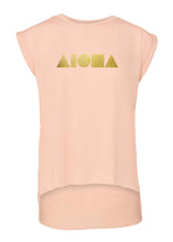 Aloha Shapes Peach & Gold Women's Flowy Muscle Tee