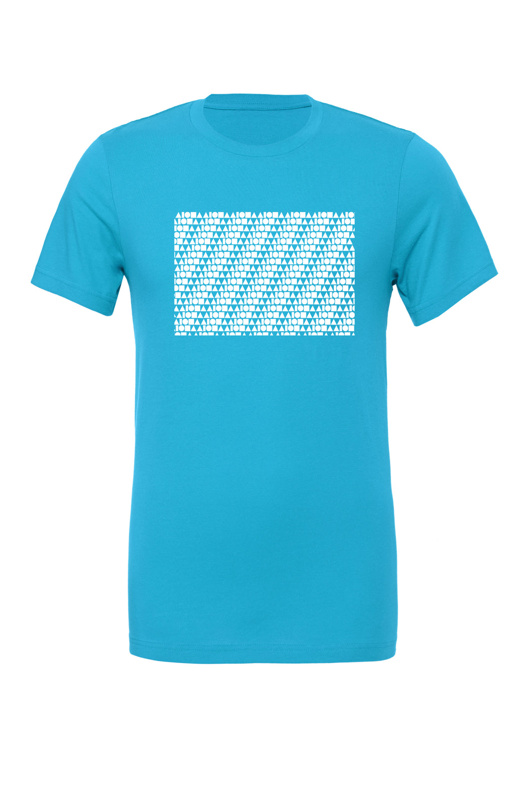 Repeat Aloha Shapes Aqua & White Unisex T-shirt