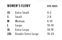Womens tank top size chart