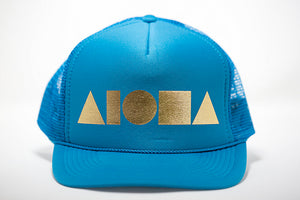 """Turquoise/Gold"" Adult Trucker Hat"