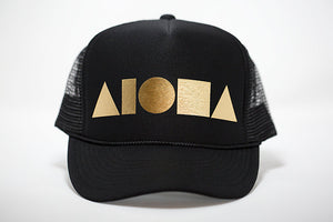 """Black/Gold"" Adult Trucker Hat"