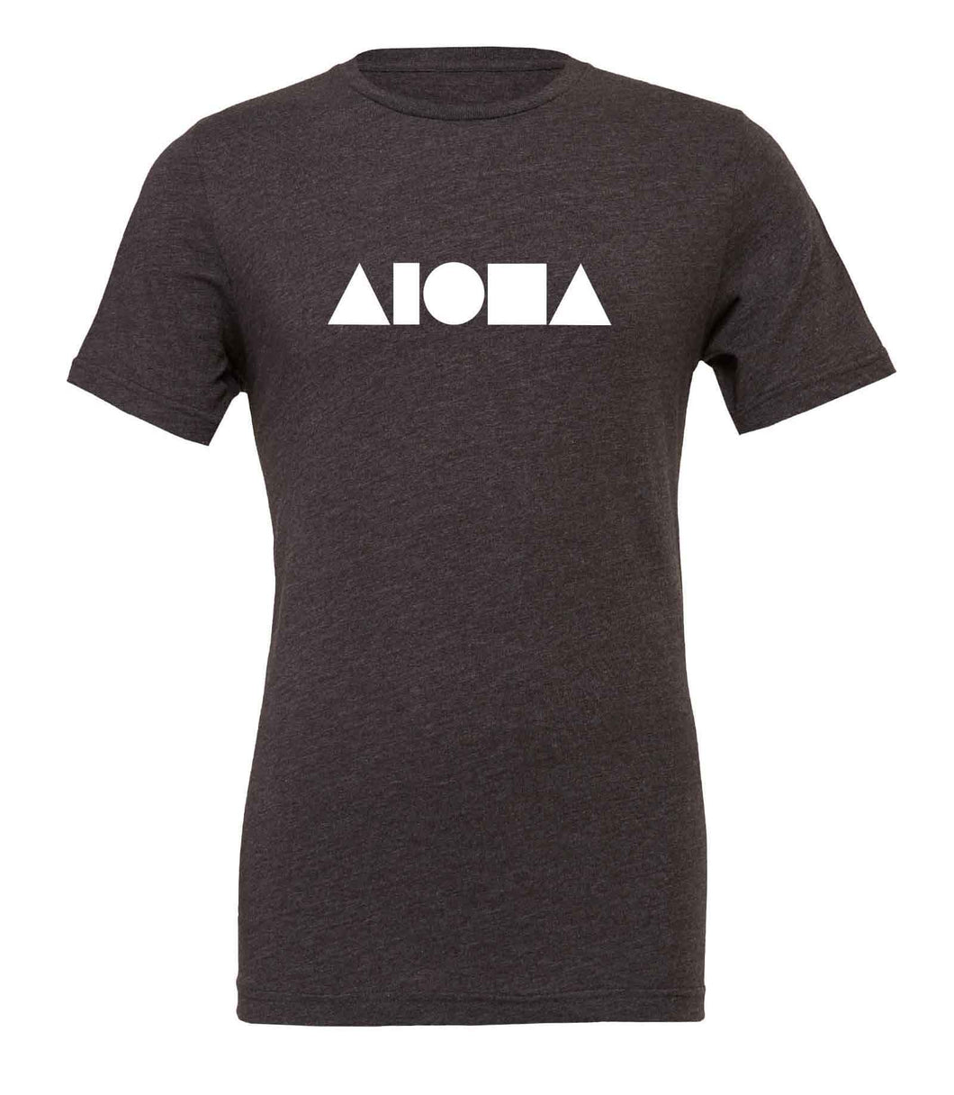 Aloha Shapes Heather Grey & White Unisex T-shirt