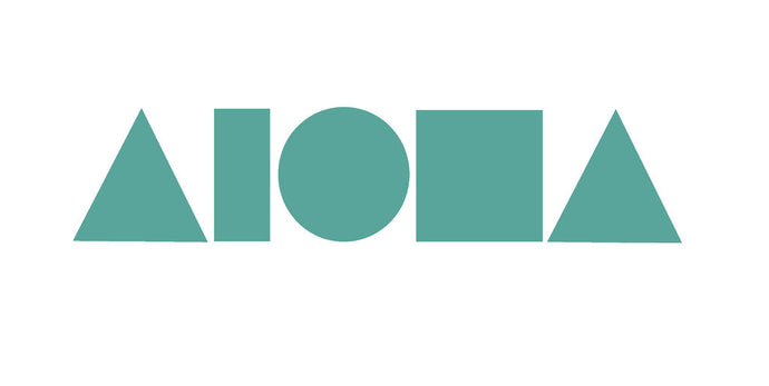 Vinyl die-cut decal sticker of Aloha Shapes ® logo in teal color
