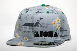 """Oahu Golf Trip"" Adult Flat Brim Snapback Hat"