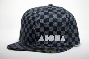 """Vintage Checkers"" Adult Flat Brim Snapback Hat"
