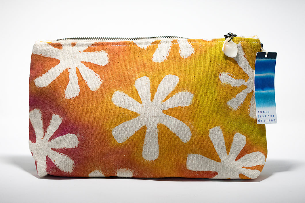 Annie Fischer Designs Flower Handpainted Clutch Purse