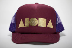 """Maroon/Purple/Gold"" Adult Trucker Hat"