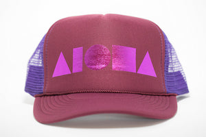 """Maroon/Purple/Pink"" Adult Trucker Hat"
