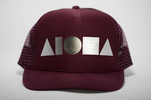 """Maroon/Silver"" Adult Trucker Hat"