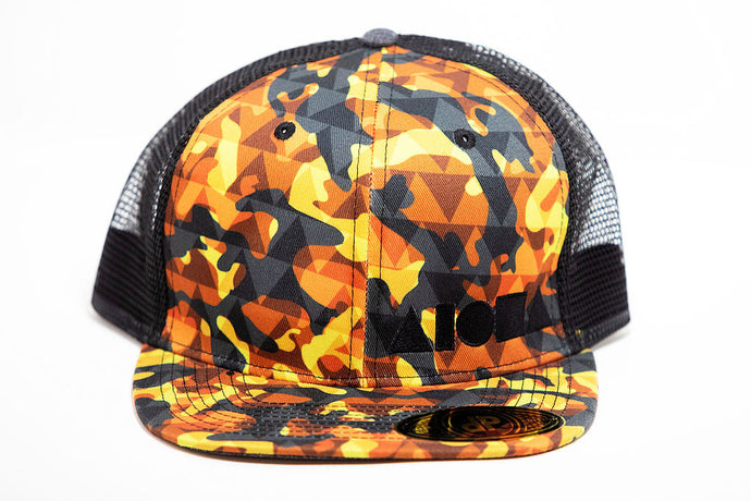 Adult flat brim snapback hat designed in Maui, Hawaii