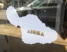 White Maui Shapes decal sticker