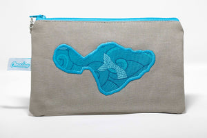 Oneloa Maui Mermaid Canvas Coin Purse