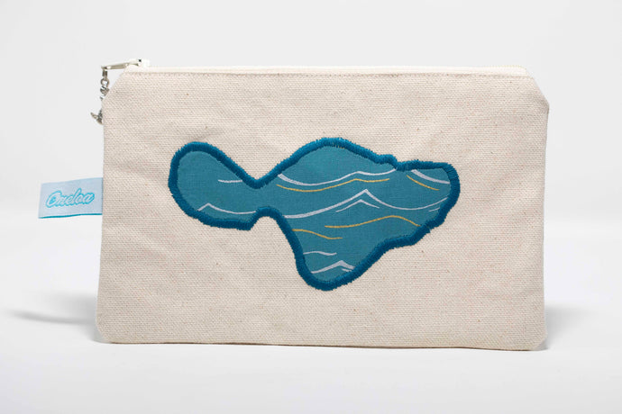Oneloa Maui Waves Canvas Coin Purse